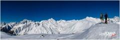 Panorama sulla catena del Monte Bianco dalla Punta Fetita (La Salle)