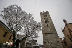 Il campanile di Sant'Orso e il tiglio secolare