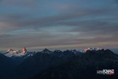 Ultimi raggi di sole sul Cervino e Monte Rosa