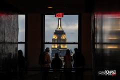 L'Empire State Building dal Top of the Rock