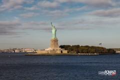Vista della Statua della Libertà dallo Staten Island Ferry