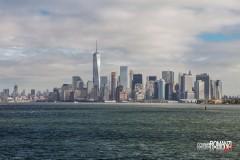Vista sullo skyline dallo Staten Island Ferry