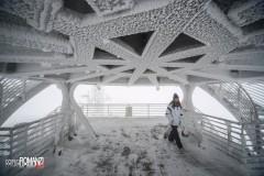La terrazza panoramica della Skyway Monte Bianco sembra una base Antartica