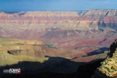 Il fiume Colorado dal Grand Canyon North Rim